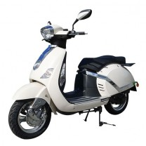 RETRO ROLLER 50ccm ZNEN F8 RETRO SCOOTER CREMEWEISS