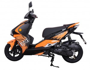 SPORTROLLER RS45 DARKNESS 50ccm 2-Takt ROLLER ORANGE mit 4,5 PS Power und LED-Blinker