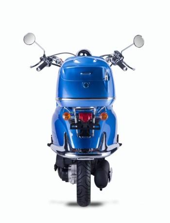 Techno Classic 2.0 125 Blau - inkl. Top Case - Sitz: weiss