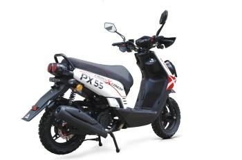 BW Cross 125ccm 85kmh MOTORROLLER ROT