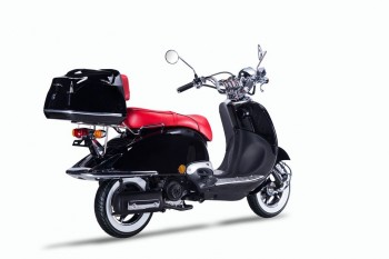 Techno Classic 2.0 125 schwarz - inkl. Top Case - Sitz: rot