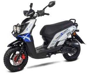 BW Cross 50 - 50ccm 45kmh MOTORROLLER BLAU