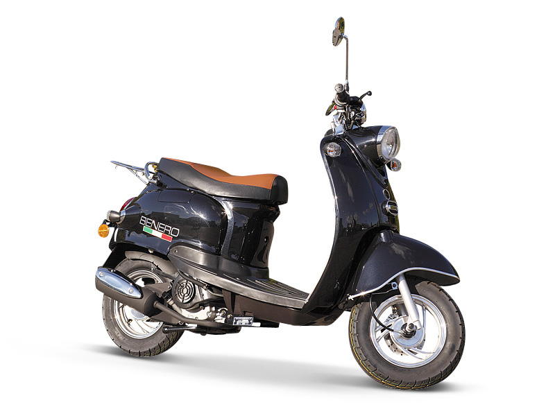 motorroller benero city cruiser retro schwarz. Black Bedroom Furniture Sets. Home Design Ideas