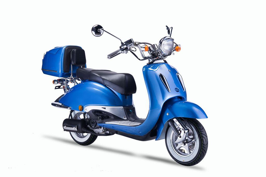 Roller Stoffschrank Fancy Blau : motorroller techno classic retro roller blau mit schwarzer sitzbank ~ Watch28wear.com Haus und Dekorationen