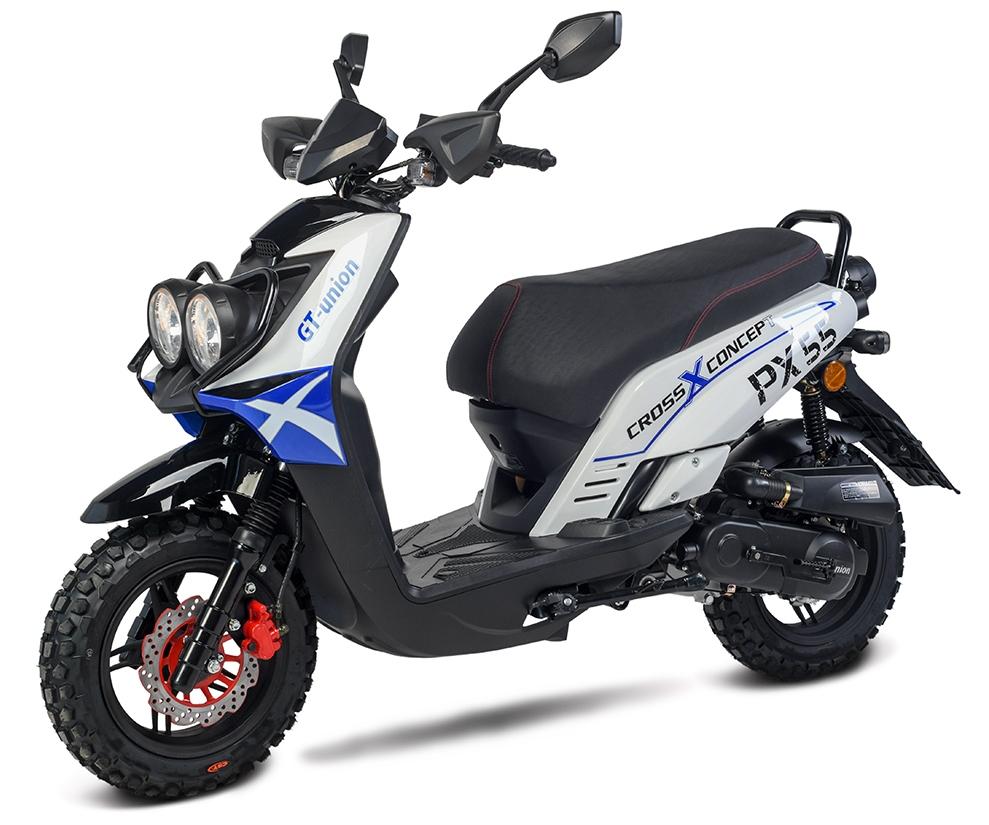 BW Cross 50 - 50ccm 45kmh MOTORROLLER BLAU 45kmh