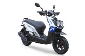 BW Cross 125ccm 85kmh MOTORROLLER BLAU